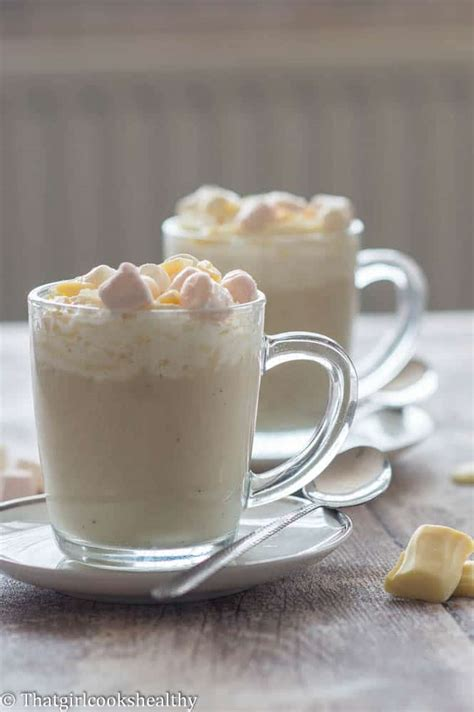 White hot chocolate recipe   That Girl Cooks Healthy