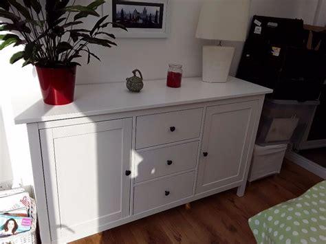 White Ikea Hemnes sideboard as new great furniture | in ...