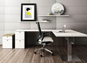 White L Shaped Desk   Contemporary Office Desk   Desk ...