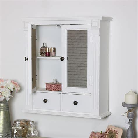 White Mirrored Bathroom Wall Cabinet | Flora Furniture