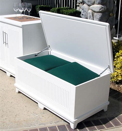 White Wood Storage Bench: Practical and Doubled Functional ...