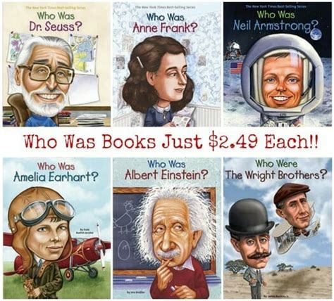 Who Was Series Books Just $2.49 Each  Reg $5.99