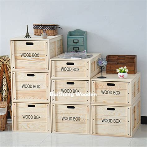 Wholesale Large Stackable Wooden Storage Boxes With Drawer ...