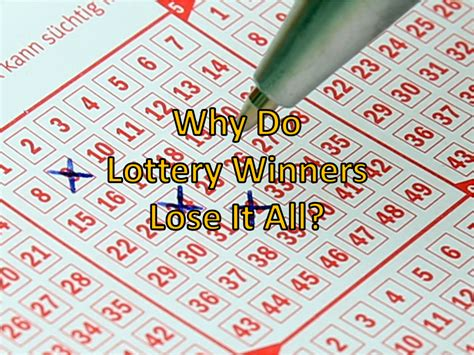 Why Do Lottery Winners Lose It All?   Kenny Santos