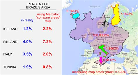 Why you should never use a Mercator projection to compare ...