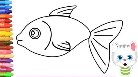 Wie zeichne man Bunter Fisch| Fisch Malerei | Fisch ...