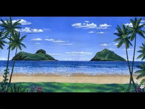 Wie zu malen einen tropischen Strand mit Acryl auf ...