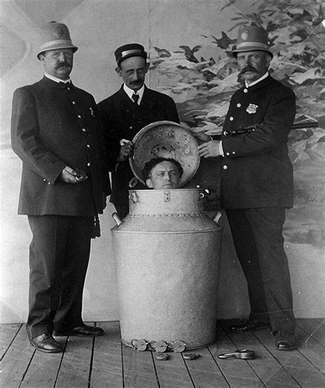 WILD ABOUT HARRY: Houdini s Milk Can escapes