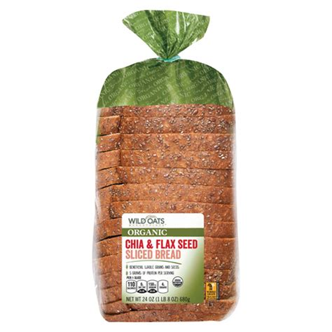 Wild Oats Marketplace Organic Chia & Flax Seed Sliced ...