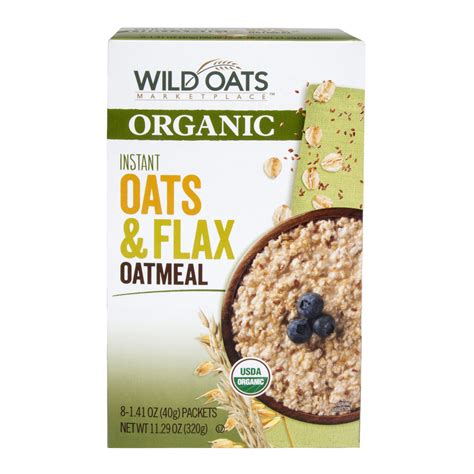 Wild Oats Marketplace Organic Instant Oats & Flax Oatmeal ...