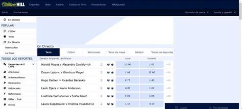 William hill version web en España  Inesperado resultados ...