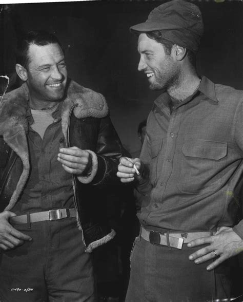 William Holden and his brother Richard Beedle on the set ...