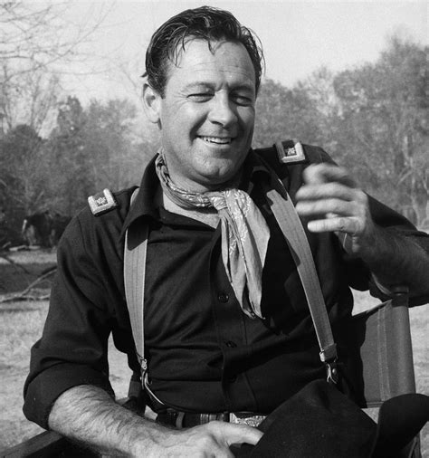 William Holden on the set of  The Horse Soldier   1959 ...