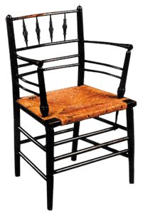 William Morris  1834 1896    Sussex Arm Chair. Turned Wood ...