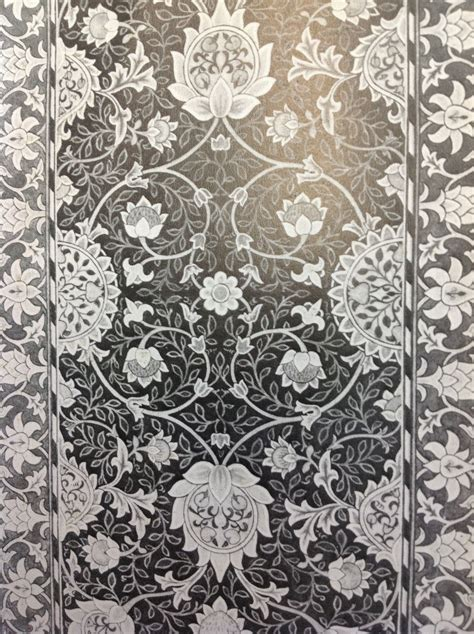 William morris. Arts and Crafts movement. Black and white ...