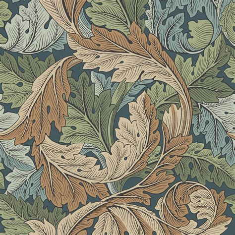 William Morris & Co Acanthus 216440 Wallpaper | Slate Blue ...