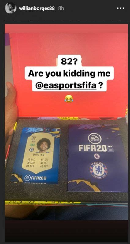 Willian FIFA 20 rating, Chelsea fans troll Brazilian