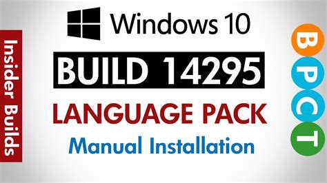Windows 10 Build 14295  Install Language Pack  Offline ...