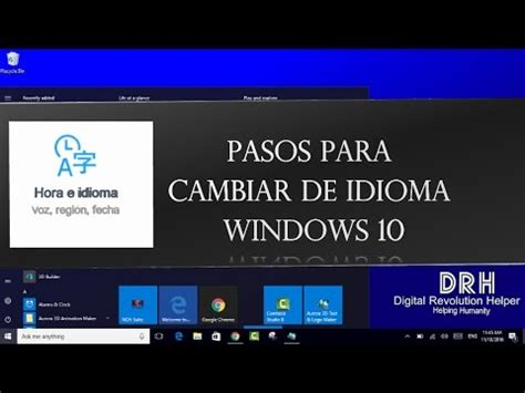 Windows 10: Como Cambiar de Idioma   YouTube