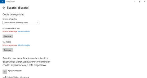Windows 10 | Error al descargar paquete de idioma ...