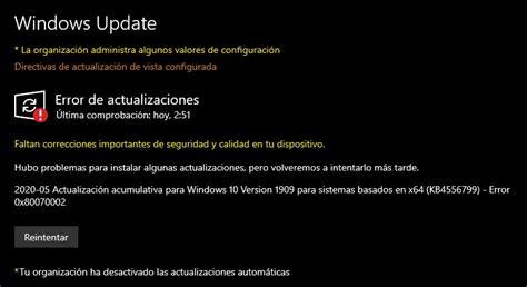 Windows 10   Error al instalar paquete de Idioma ...