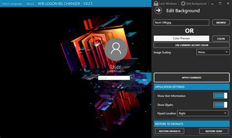 Windows 10: How to change login screen background