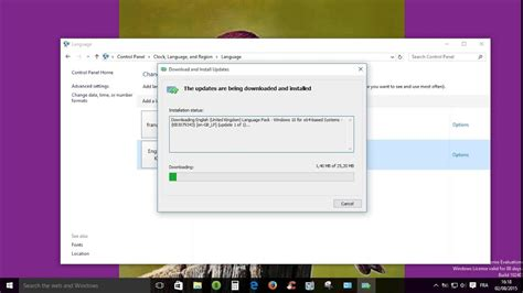 Windows 10: How to download and install language pack ...