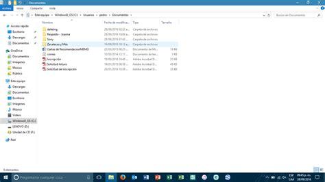 Windows 10   Mis documentos fueron movidos a otra ...
