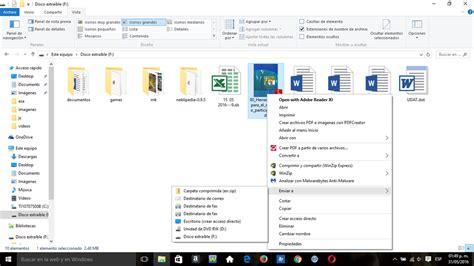 Windows 10   No puedo enviar archivos a mis documentos con ...