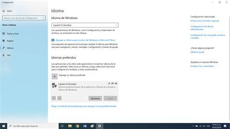 Windows 10 ≈ Problemas con idiomas de teclado instalados ...