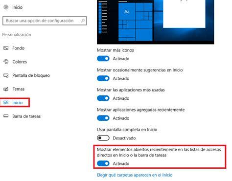 Windows 10 | Visualizar archivos recientes en el menú de ...