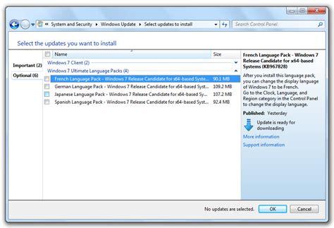 Windows 7 Test Updates & Language Packs hits Windows ...