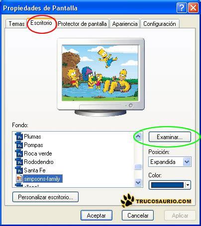 Windows XP SP3 prohibe el cambio de fondo de Escritorio.