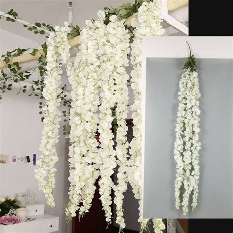 Wisteria Premium Colgante Flores Artificial Decoración ...