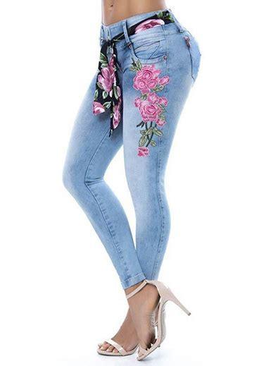 WMNS Pastel Colored Denim Skinny Jeans   Large Vertical ...