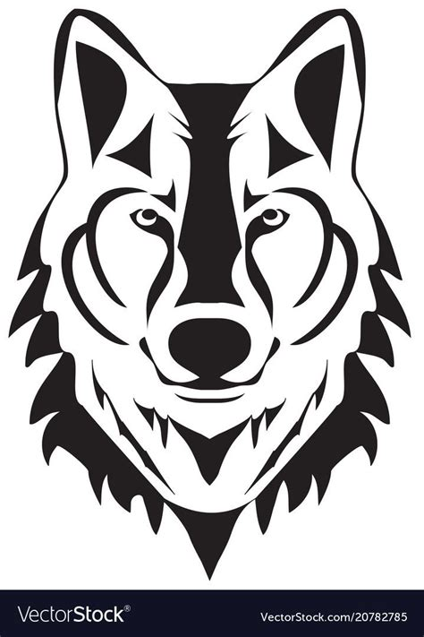 Wolf silhouette Royalty Free Vector Image   VectorStock ...