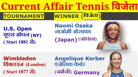 Women Grand Slam tennis Winner List 2018,Current Affairs ...