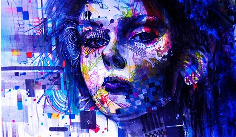Women Multicolor Artwork Faces Wallpapers HD / Desktop and ...