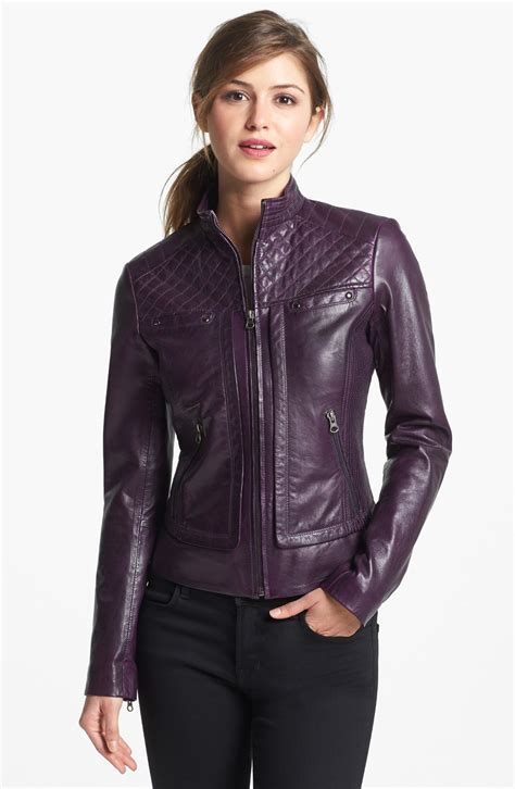 Womens Leather Jackets in Trendy Designs   Crochet and ...