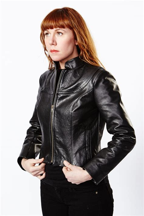 Women's vegetable tanned leather jacket | Production Mode ...