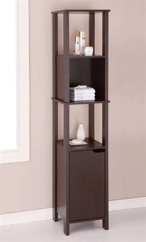 Wood Cabinet   High in Bathroom Shelves
