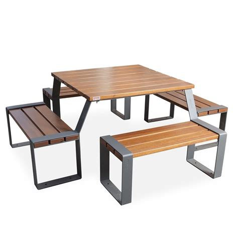 Wood Table Picnic Marina urban furniture parks and gardens