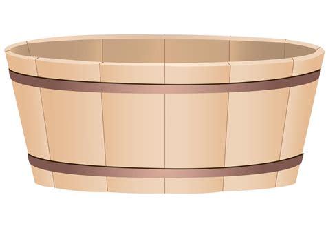 Wooden Bucket Vector | Free Vector Art at Vecteezy!