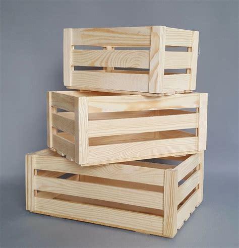 Wooden Crates Boxes Storage Craft Decoupage Plain Wood Box ...