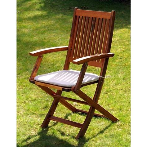 Wooden Folding Chair Hardwood Armchair Wood Lawn Garden ...