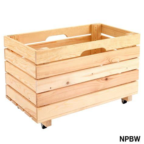 Wooden Mobile Pine Storage Box   eBay