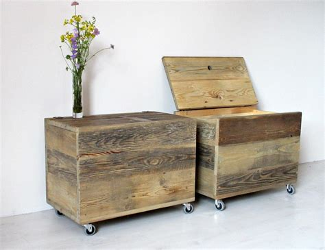 Wooden Storage Box Large Wooden Organiser Chest Side Table