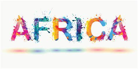 Word Africa Rainbow Splash Paint Stock Illustration ...