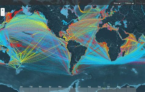 wordlessTech   A Map Tracking thousands of Cargo Ships