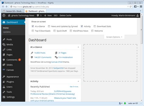 Wordpress 3.8 update comes with a new admin and default ...